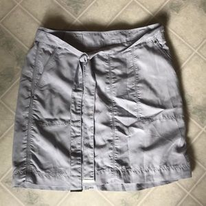 White House Black Market Lined Gray Mini Skirt